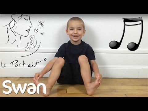 Swan 3 ans chante Le portrait de Calogero (cover)