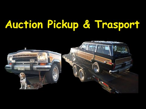 Loading Cars on Trailer Auction Car Pickup Video ~ Behind the Scenes