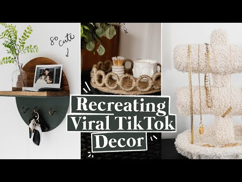 RECREATING VIRAL TIK TOK DIY ROOM DECOR ✨ Cute & Easy DIY Decor Ideas!