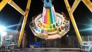 Thrilling Giant wheel ride at a Fun Fair.