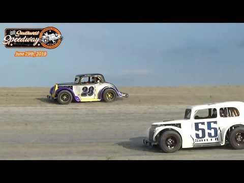 Southwest Speedway INEX Legends Races (6/29/19)