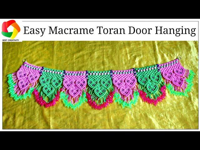 New Easy Macrame Toran || Heart Shape design