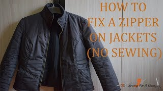 How to fix a zipper on jackets (no sewing)