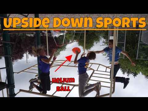 Using Buoyancy as Gravity in Upside Down Sports Challenge With Helium Balls