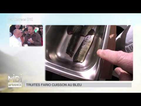 RECETTE : Truites Fario, Cuisson Au Bleu, Beurre Frais Fondu Et Carottes à L'oseille