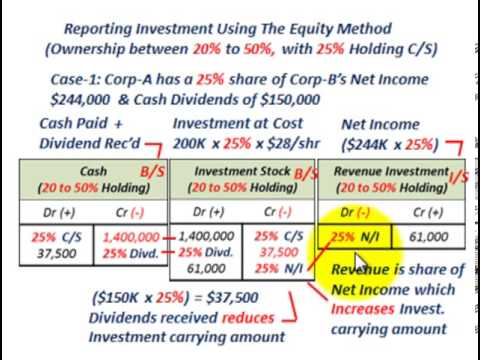 Equity Securities Ownership Interest (Equity Method For Recording Investment Interest In A Corp)