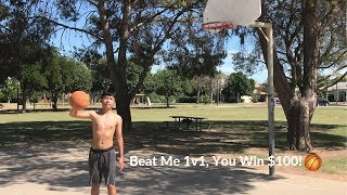 Beat Me 1v1, You Win $100! (Basketball)