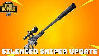 "Fortnite:Battle Royale ""Suppressed Sniper Rifle"" Update - Fortnite Suppressed Sniper gameplay"