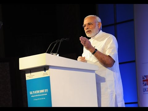 PM Modi's speech at the inauguration of Global Call to Action Summit 2015