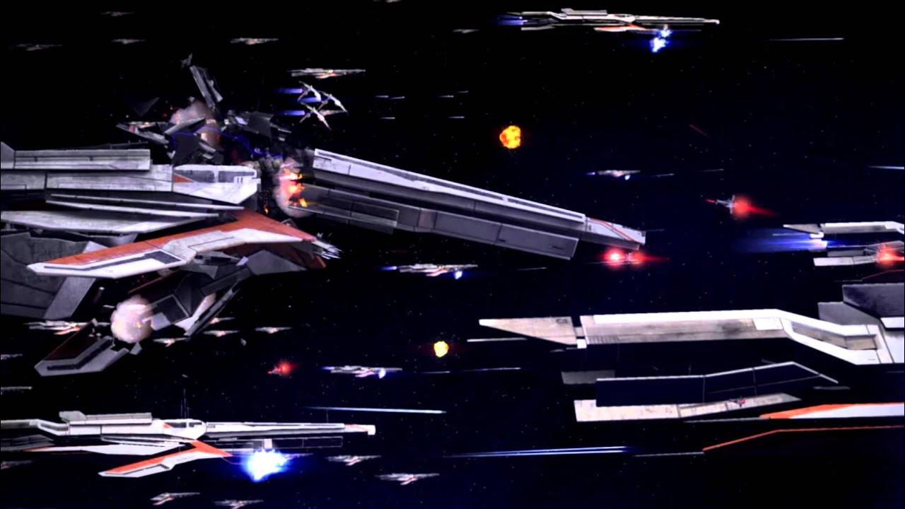 Masseffect3 Turian Fleet Arriving At Palaven Youtube