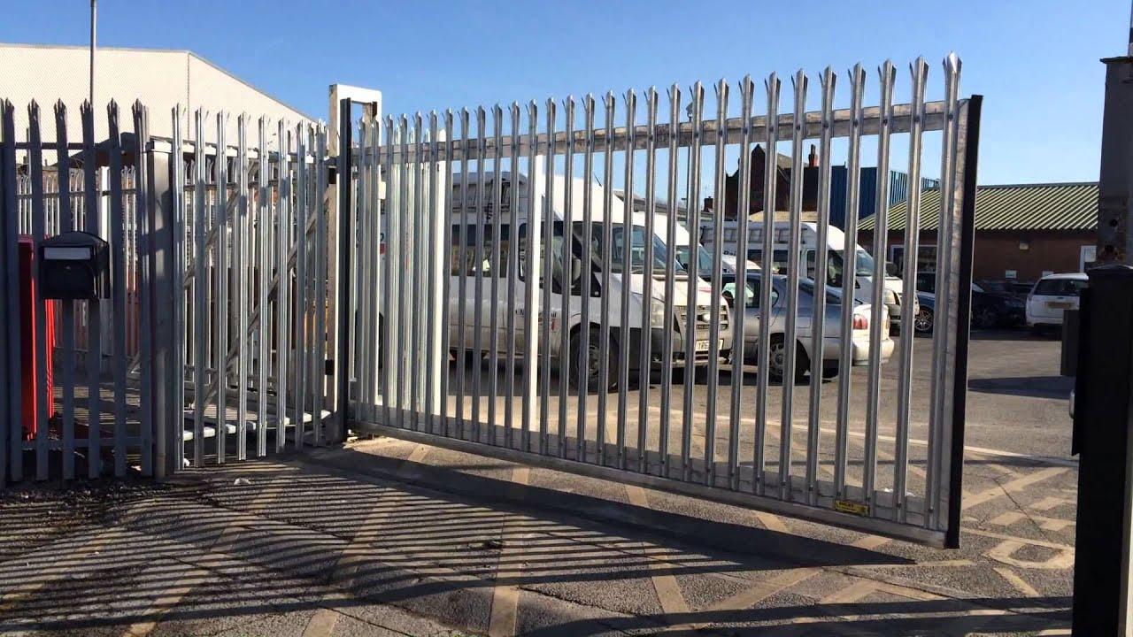 Sliding security gate youtube