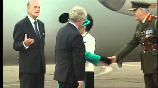 The Queen arrives in Ireland on historic state visit