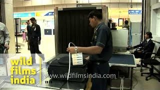 Baggage passed through X-ray at Jet Airways counter