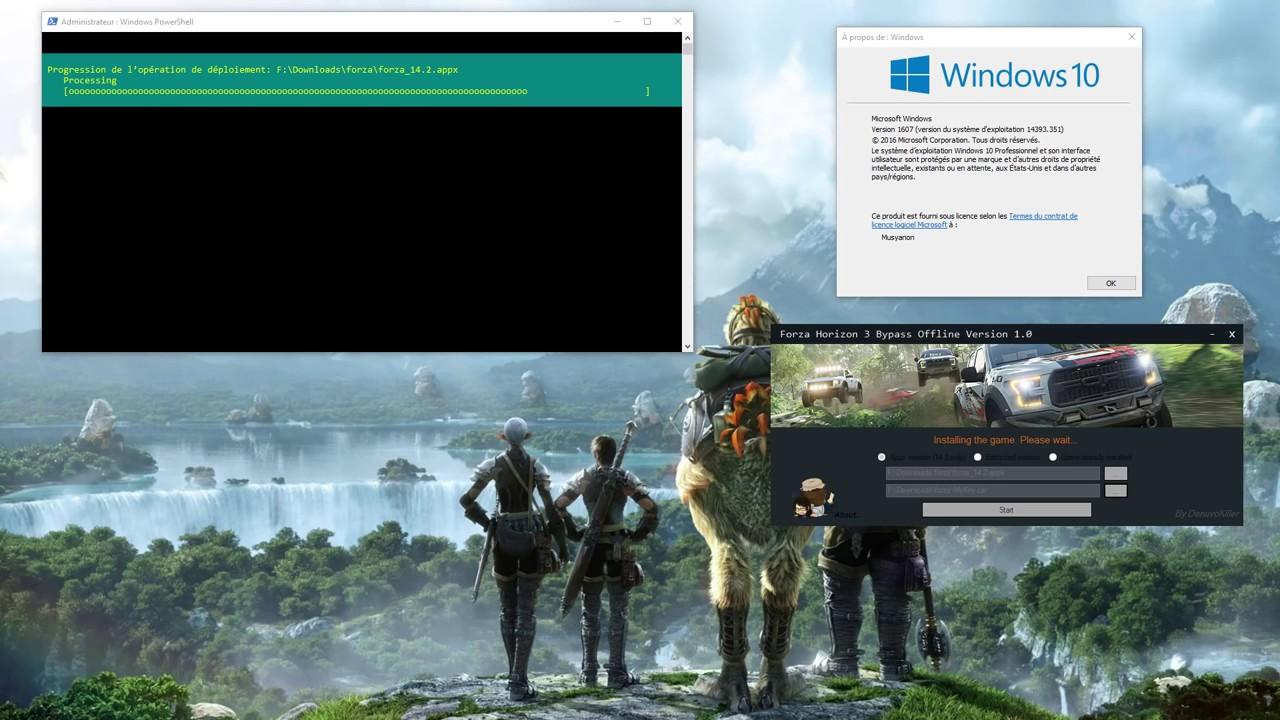 Forza Horizon 3 Installing Please Wait