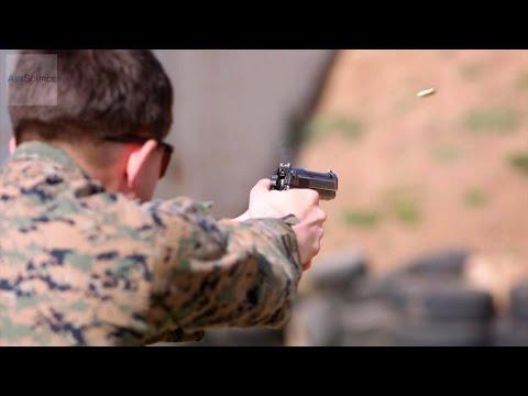 U.S. Marines M9 Pistol Marksmanship