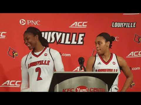 Women's basketball post game interview vs. No. 10 Oregon
