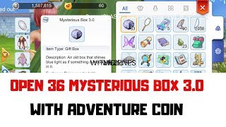 Open 36 MYSTERIOUS BOX with ADVENTURE COIN. [ RAGNAROK MOBILE ETERNAL LOVE]