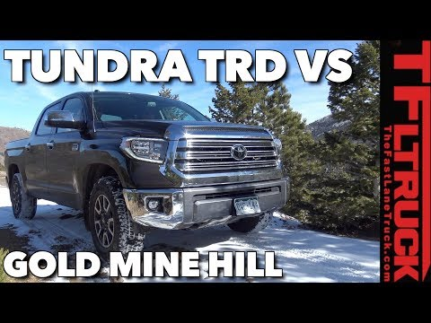 Redo! 2018 Toyota Tundra TRD vs a Snowy Gold Mine Hill Off-Road Review