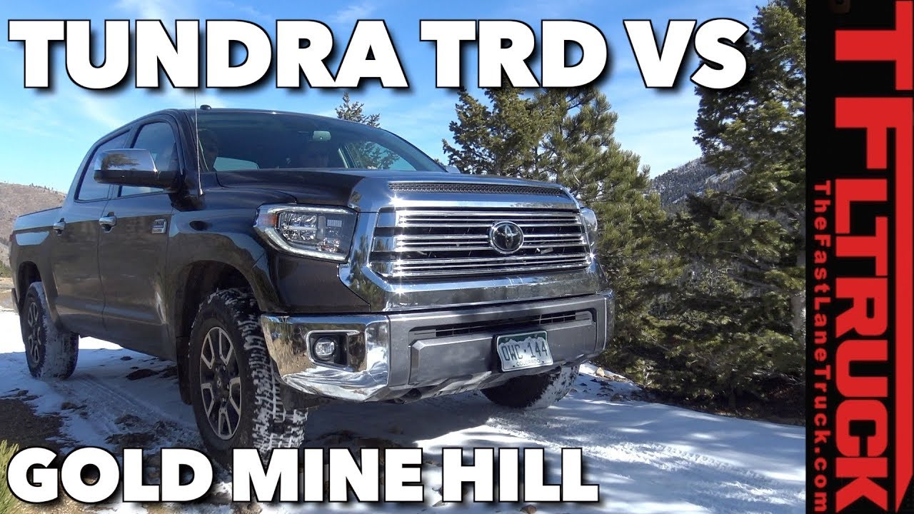 Redo 2018 Toyota Tundra Trd Vs A Snowy Gold Mine Hill Off Road Review