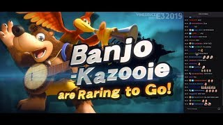 [Vinesauce] Vinny reacts to Banjo getting into Smash Ultimate + Twitch chat