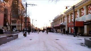 Симферополь - центр города зимой.