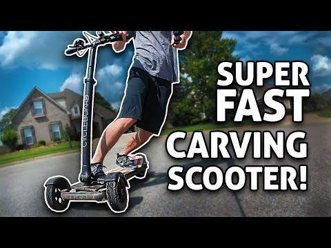 SUPER FAST 3-Wheel CARVING Electric Scooter!! Cycleboard REVIEW