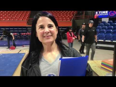 Boise State gymnastics coach Tina Bird on loss to BYU