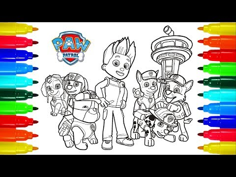 PAW PATROL # 3 Coloring Pages | Colouring Pages For Kids With Colored Markers