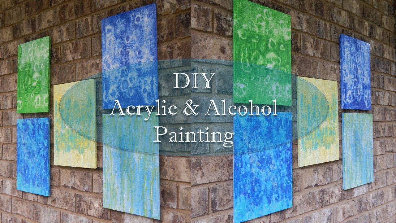 DIY Acrylic and Alcohol Painting
