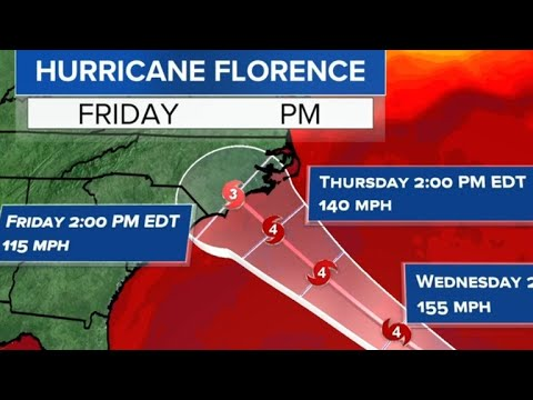 - Hurricane Florence hits North Carolina