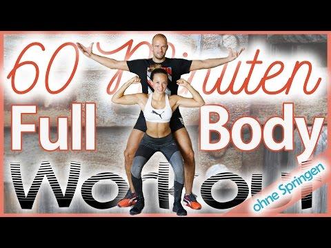 60 Minuten Workout – Bauch Beine Po & Oberkörper zuhause trainieren – 800 Kalorien – Ohne Springen