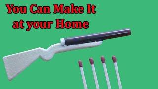 how to make mini toy gun which shoots matchstick | Sab Kuchh Banao Jano skbj