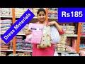 Madina Wholesale Dress Materials at Rs185 Pure Cotton Dresses at Charminar Hyderabad Shopping Vlog