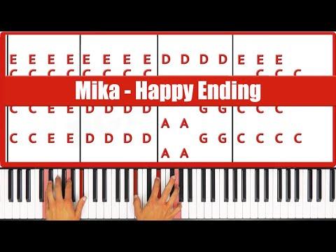 Happy Ending Mika Piano Tutorial - EASY