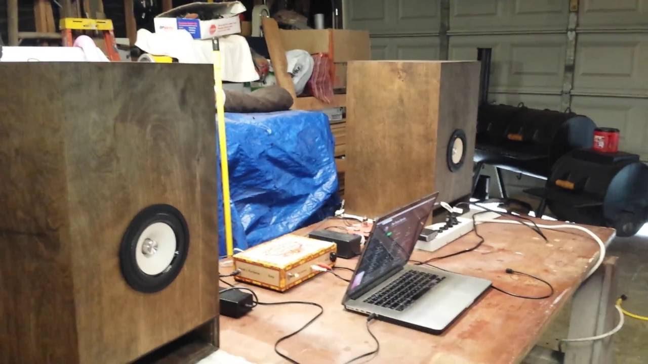 tang band w 5 speakers in mltl enclosure youtube