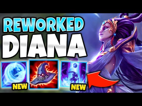 *DASH ON REPEAT* NEW REWORKED DIANA IS THE ULTIMATE ASSASSIN! - League Of Legends