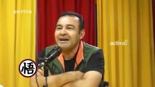 Mario Castañeda (voz de Goku) en La Mera Yema - Parte 1