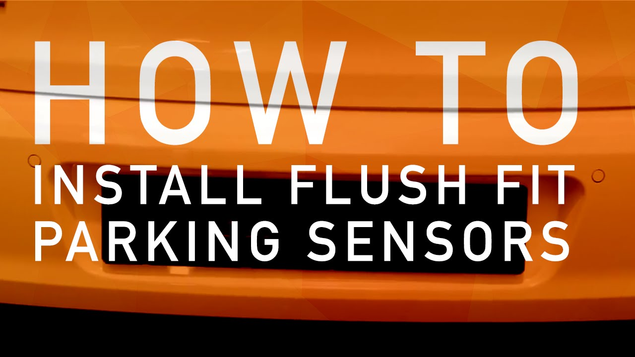 How to install flush fitted parking sensors (VW Golf)
