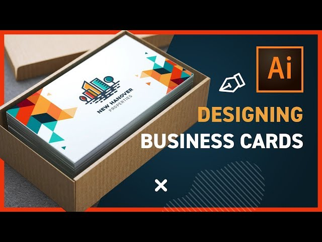 How to Design BUSINESS CARDS with Illustrator CC 2019
