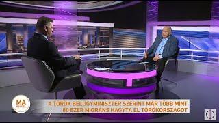 A török belügyminiszter szerint már több mint 80 ezer migráns hagyta el Törökországot