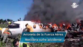 De acuerdo con fuentes policiales, la aeronave tipo Learjet fue consumida por el fuego; de manera preliminar se maneja que seis tripulantes murieron en el lugar de los hechos