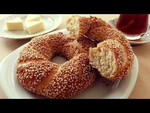 Turkish Sesame Bagel Simit Recipe - Ring Bread