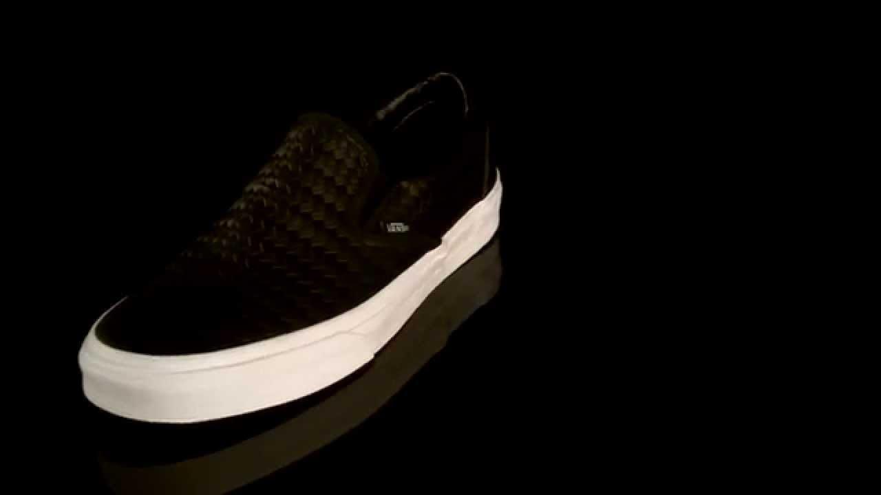 27d0887029 Vans Classic Slip-On Sneakers Emboss Weave VZMRFEN - YouTube