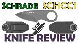NEW for 2017 🔪 Review of the Schrade SCHCC1  A Money Clip Knife.  aka Belt Knife and/or Neck Knife?