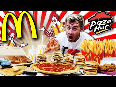 THE ULTIMATE McPIZZA FAST FOOD CHALLENGE! (15,000+ CALORIES)