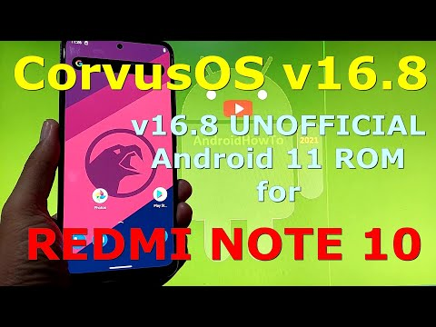 CorvusOS v16.8 UNOFFICIAL for Redmi Note 10 ( Mojito ) Android 11