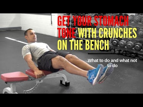 tone-your-abs-with-crunches-on-the-bench