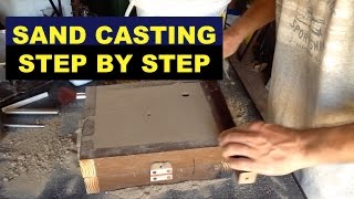 SAND CASTING LESSON FOR BEGINNERS - STEP-BY-STEP - (A 3rd HAND) - MSFN