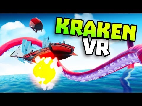 KRAKEN DESTROYS SHIPS IN VR - Kraken Gameplay - VR HTC Vive Gameplay (Kraken Game)