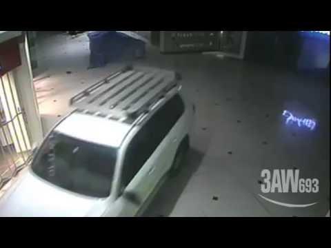 An attempted ram raid at a Glen Waverley shopping centre